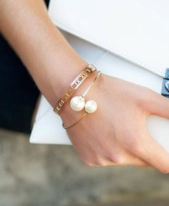 pulsera moda perla