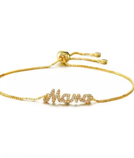 pulsera dorada mama