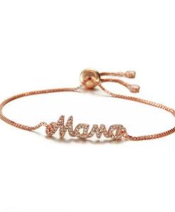 pulsera mama oro rosa