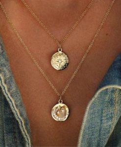 collar medallas regalo mujer