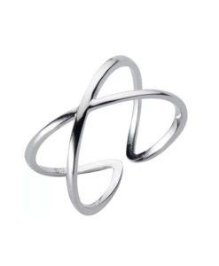 anillo cruz plata para mujer