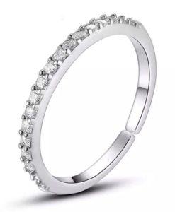 anillo ajustable circonitas