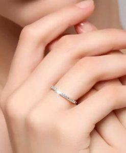 anillo plata de ley circonitas