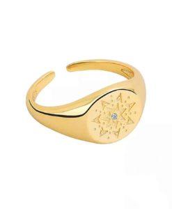 anillo tipo sello oro