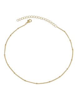 collar cadena bolitas chapado oro