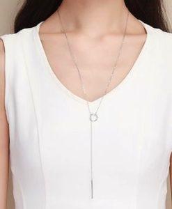 collar largo plata 925