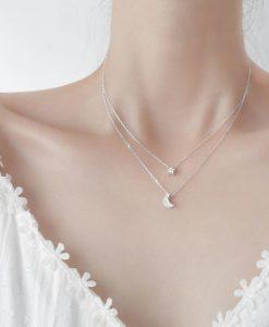 collar plata luna estrella original