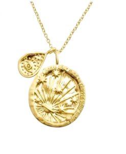 collar medalla original chapada en oro