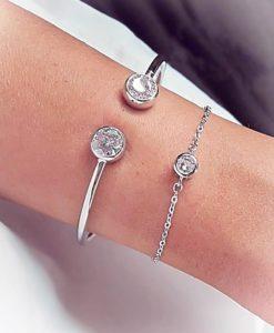 pulsera circonita plata 925
