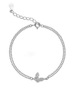 pulsera mariposa plata de ley