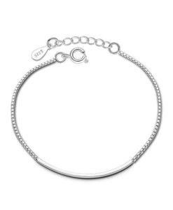 pulsera minimalista plata